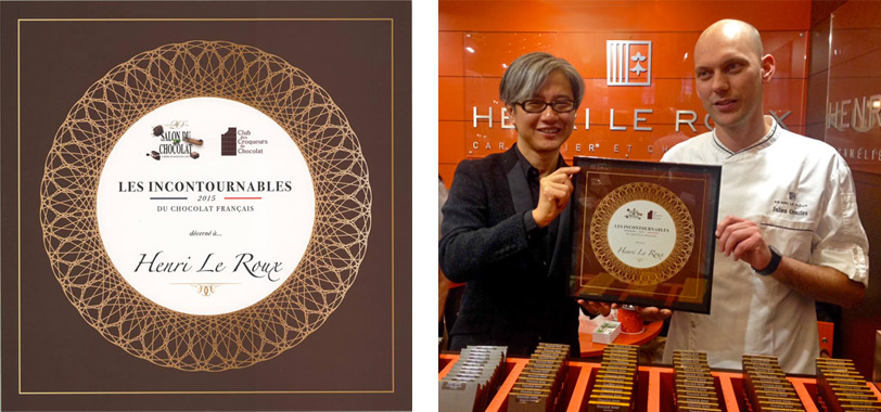 Awards du Salon du Chocolat 2015 Incontournables